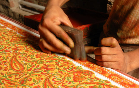 Indian block printing artisan