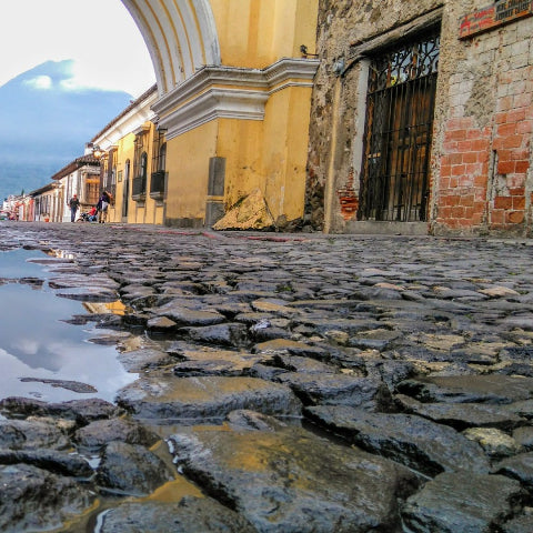 Cobblestone streets while traveling