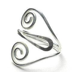 Fair trade silver ring heart