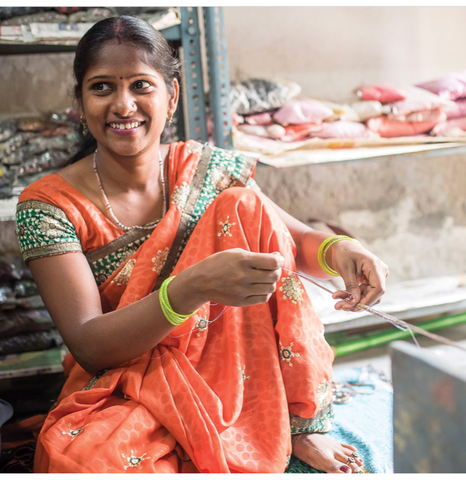 Fair trade artisan in India