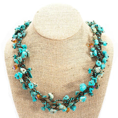 Chunky sustainable fashion necklace