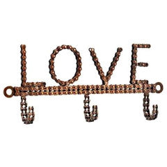 Bicycle Chain Love Hook Handmade