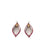 Fan Leaf Palm Earrings 1028 - Wine