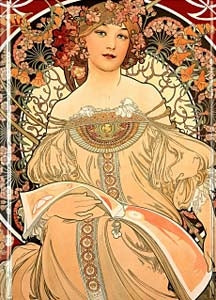 "Mucha ""Reverie"" Pocketbook"