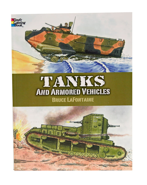 Tanks and Armored Vehicles Coloring Book