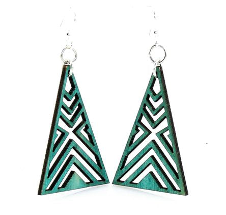 Interlocked Triangle Earrings 1075- Teal
