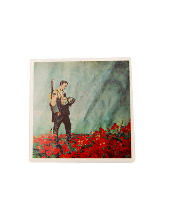 Coaster - Soldier in Poppy Field