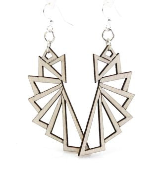 The Triangular Wood Earrings 1197 - Natural Wood