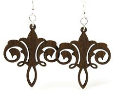 Chandelier Wood Earrings 1272 - Brown