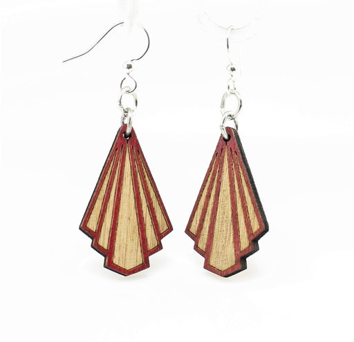 Art Deco Blossom Earrings 139 - Wine