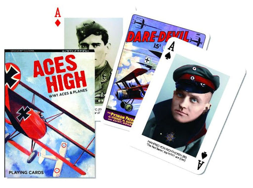 WWI Aces & Planes Playing Cards