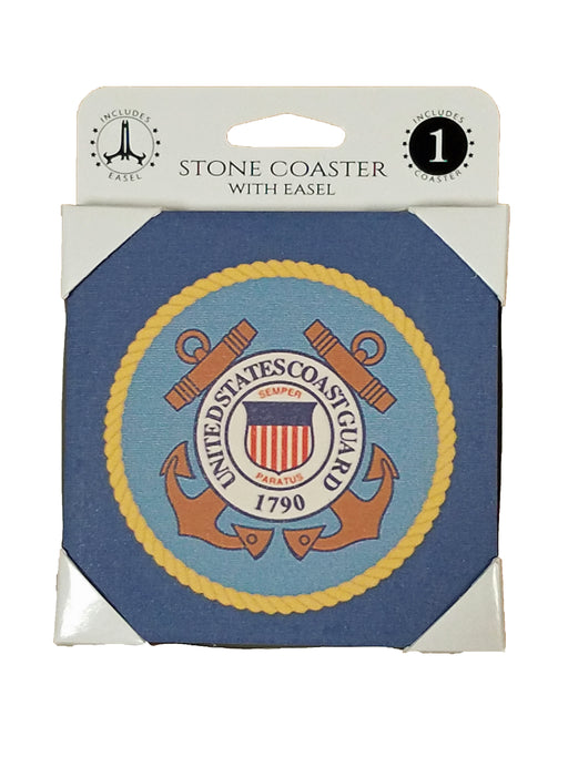 Coast Guard Coaster w/Easel