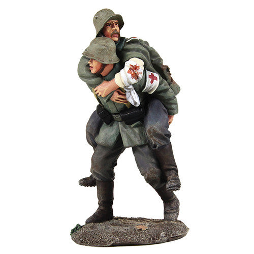 1916-18 German Medic Carrying Wounded Soldier