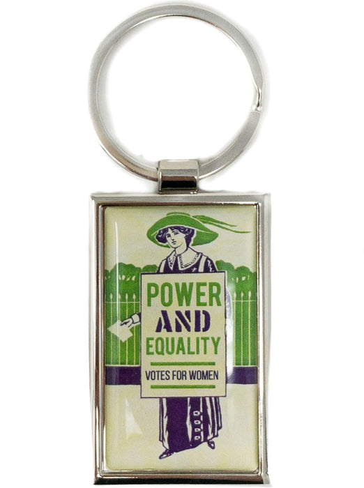 Power and Equality Votes for Women Keychain