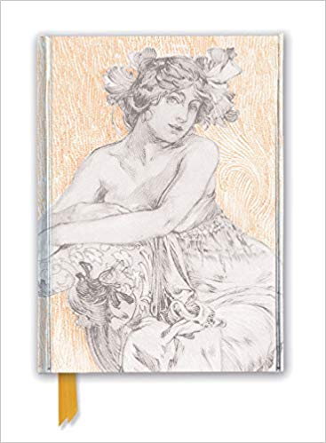Alphonse Mucha: Study for Documents Décoratifs Plate 12 (Foiled Journal)