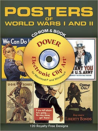 Posters of World Wars I and II CD-ROM and Book [Dover]