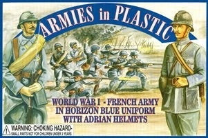 Armies in Plastic - French Army in Horizon Blue Uniforms with Adrian Helmets
