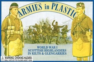 WWI Scottish Highlanders in Kilts & Glengarries