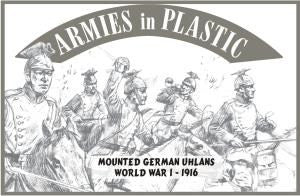 Armies in Plastic - Mounted German Uhlans, 1916