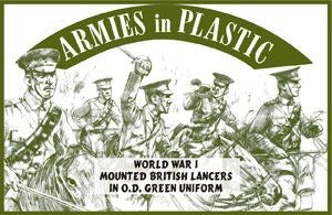 Armies in Plastic - Mounted British Lancers in OD Green Uniform
