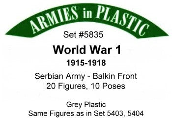 Armies in Plastic- Serbian Army