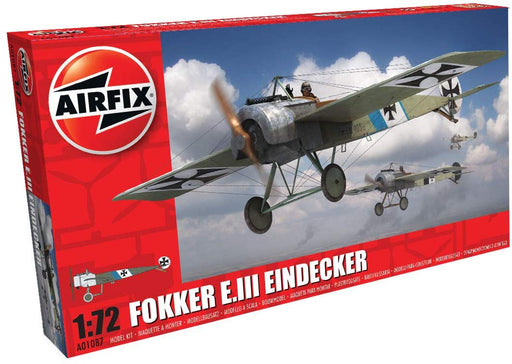 Airfix A01087 Fokker E.III Eindecker 1:72 Scale Plastic Model Kit, Gray