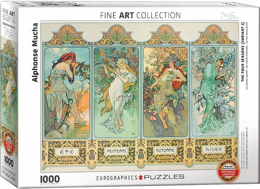 Mucha Four Seasons 1000pc Puzzle