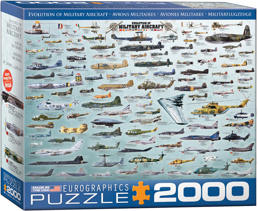 Evolution of Military Aircraft 2000pc Puzzle
