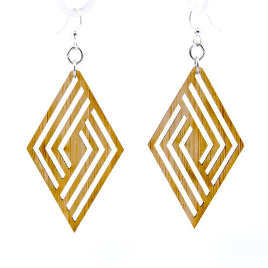 Rhombus Bamboo Earrings #992