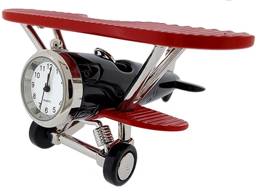 Sanis Large Biplane Clock Red/Black