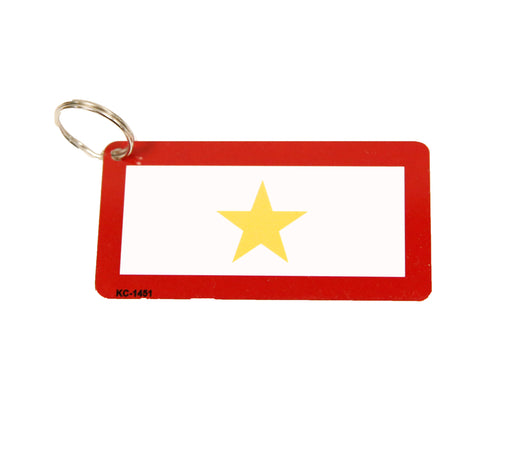 Gold Star Tag Keychain