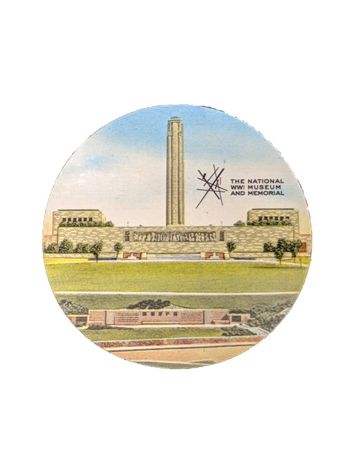 Round Sticker - Vintage Liberty Memorial