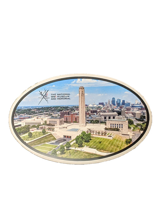 Oval Sticker - National WWI Museum and Memorial Aerial View