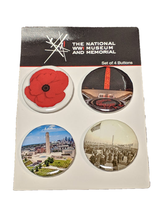 National WWI Museum and Memorial 4 Button Set