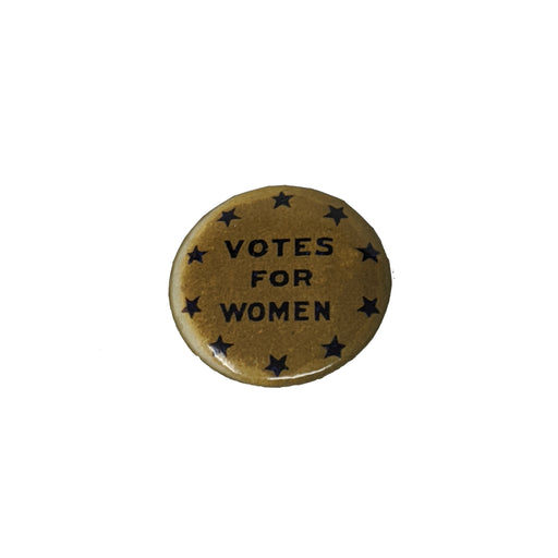 "Button - Gold and Blue - ""Votes for Women"""