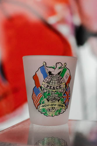 Peace 1918 Frosted Shot Glass