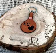 KC Heart Leather Keychain