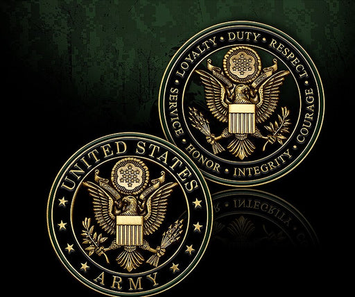 US Army Core Values Coin