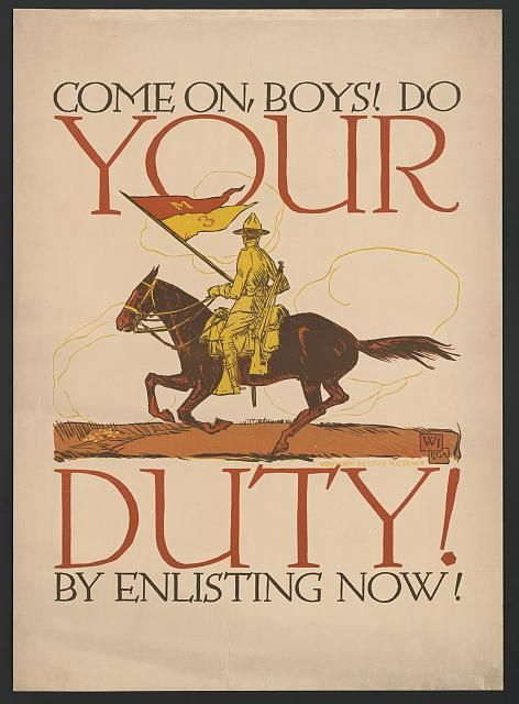 Come on Boys Do Your Duty Poster 213