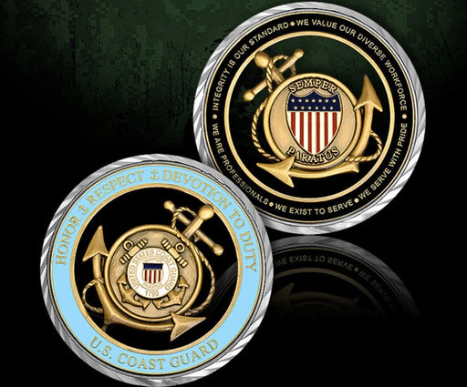 US Coast Guard Core Values Coin