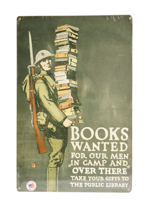 Metal Sign - Books Wanted