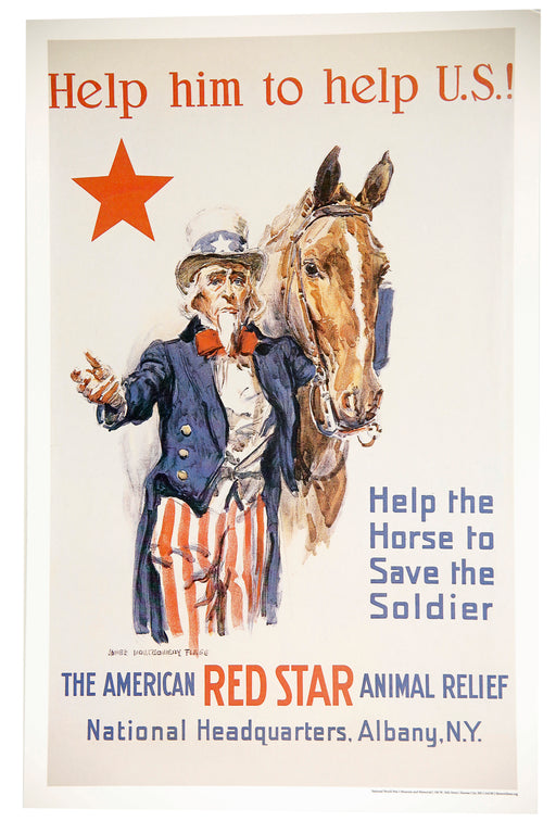 "Mini Poster - ""Help Him to Help U.S.!"""