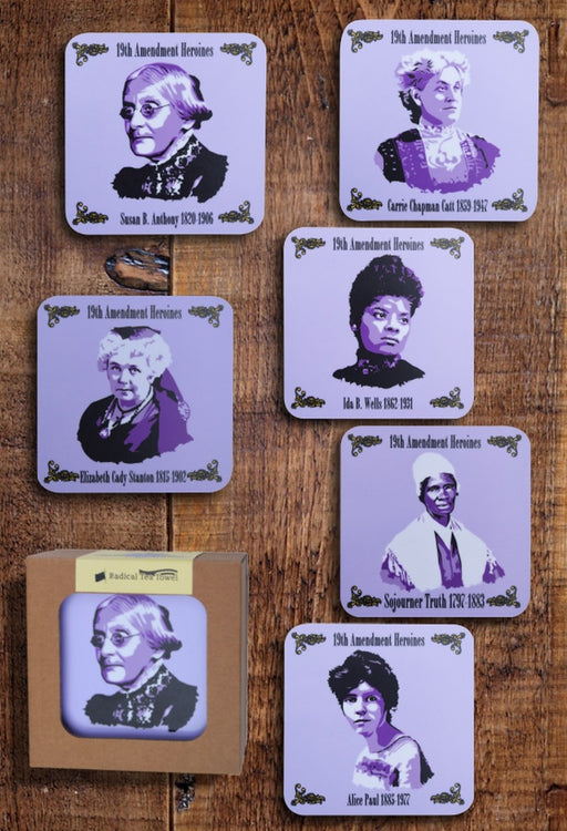 19th Amendment Heroines Coaster Collection