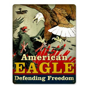 Metal Sign - American Eagle (Red)
