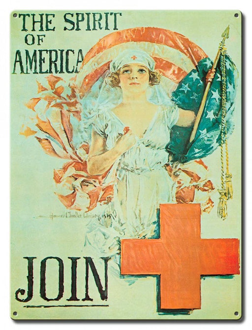 Join the Red Cross Metal Sign
