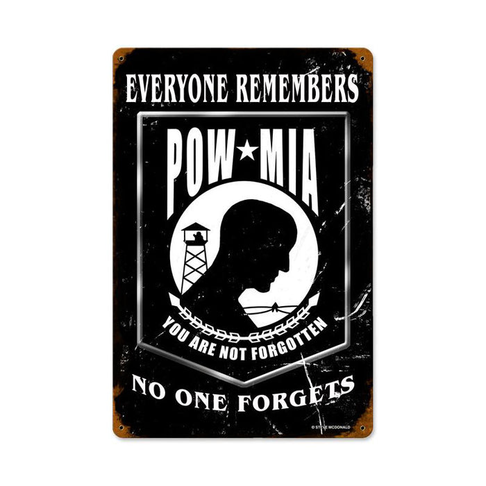 POW*MIA Metal Sign