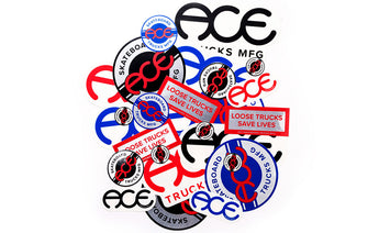 Ace Trucks Stickers Assorted Logos - 20 pack