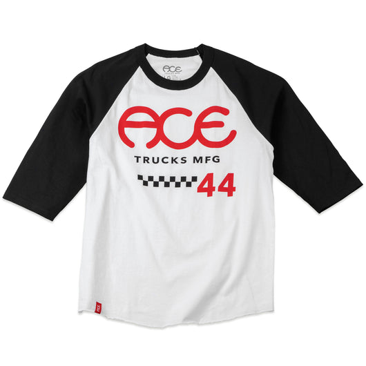 Ace 415 Raglan Shirt - White/Black