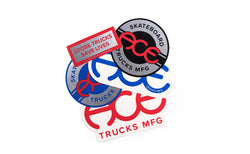 Ace Trucks Stickers Assorted Logos - 5 pack