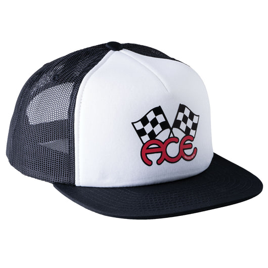 Flags Trucker Hat - Black / White